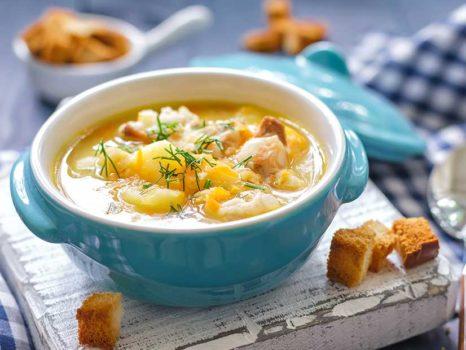 Receita: sopa de batata aipo Scala